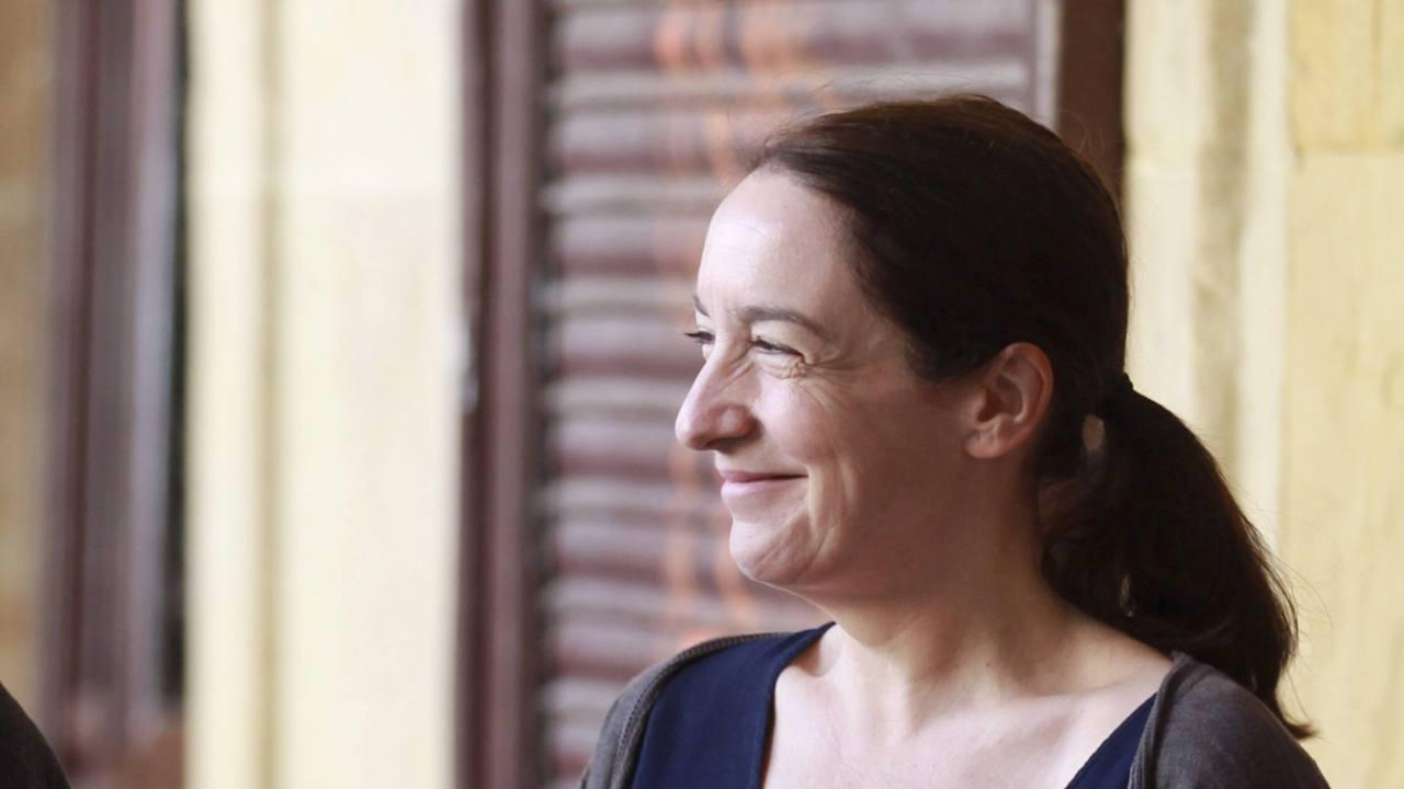 La ilustradora, Elena Odriozola.