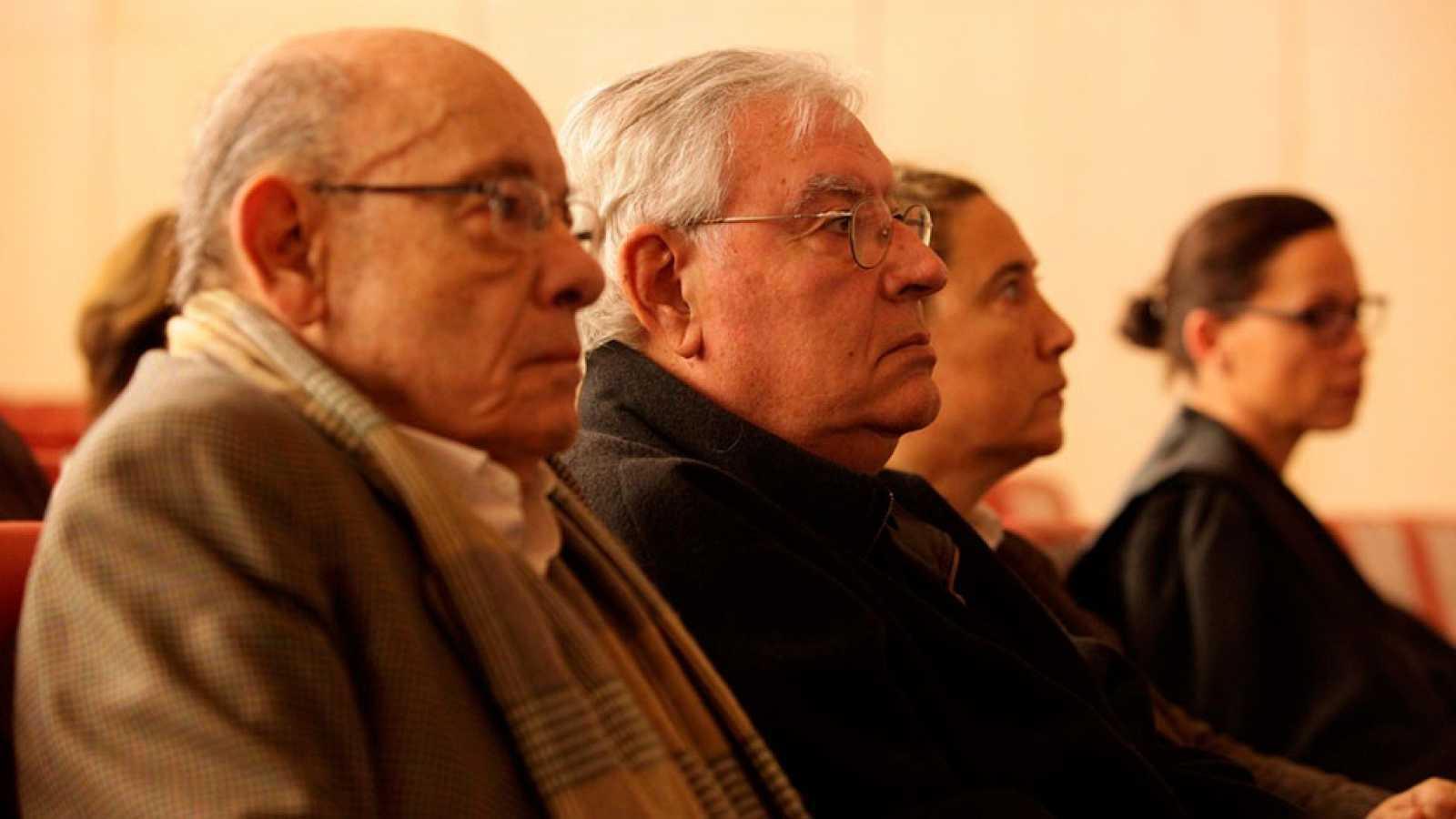 Imagen de archivo en la que aparecenlos exresponsables del Palau de la Música Fèlix Millet (i) yJordi Montull.