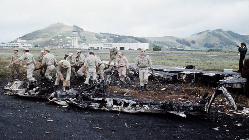 Imagen de archivo del accidente de Los Rodeos en Tenerife en 1977