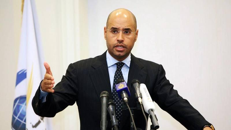 Imagen de archivo del hijo de Gadafi, Saif al Islam