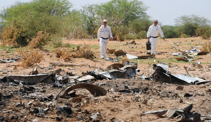 Imagen de archivo donde se muestran algunos restos del aparato.