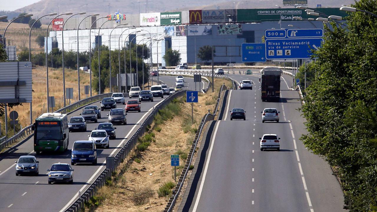 Imagen de archivo de tráfico en Madrid