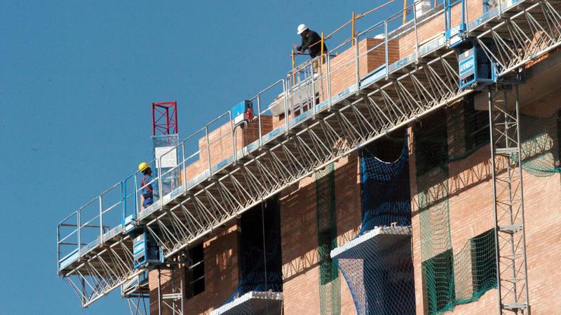 Imagen de archivo de una vivienda en construcción en España