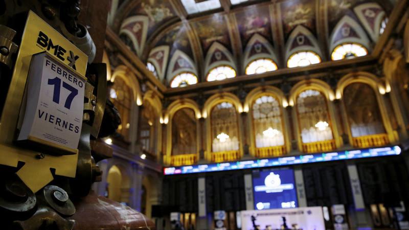Imagen de la Bolsa de Madrid este viernes 17 de febrero