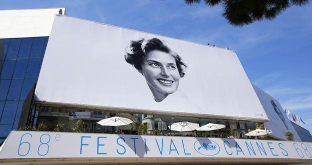 Imagen del cartel oficial de la 68 edición del Festival de Cannes, con Ingrid Bergman.