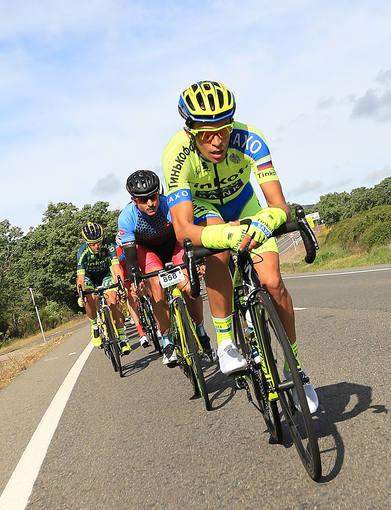 Imagen del ciclista de Pinto durante la V Marcha Cicloturista Alberto Contador.