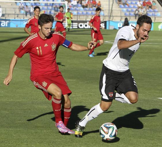 Imagen del España - Austria jugado en Puertollano