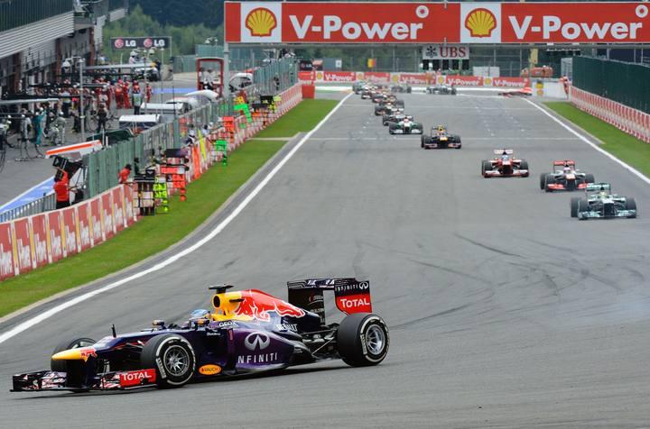 Imagen del GP de Bélgica de Fórmula 1