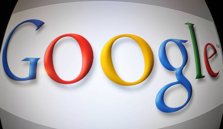 Imagen del logo de Google tomada en Washington D.C.