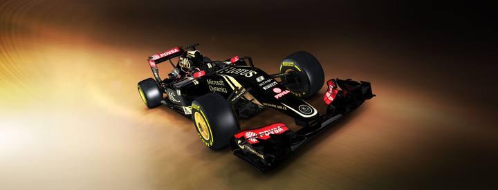Imagen del nuevo monoplaza Lotus E23 difundida por la escudería.