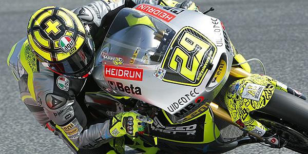 Imagen del piloto italiano de Moto2 Andrea Iannone del