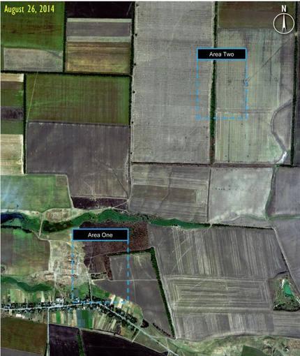 Imágen del satélite que muestra movimientos de tropas y de la oposición en el este de Ucrania