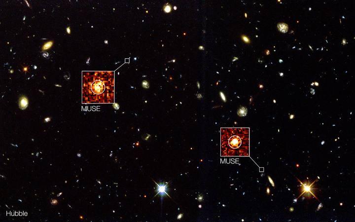 Imagen del telescopio espacial Hubble de NASA/ESA de la región conocida como el campo profundo sur del Hubble.