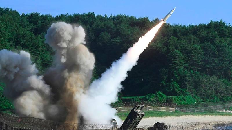 Imagen de los ejercicios militares con misiles realizados por EE.UU. y Corea del Sur