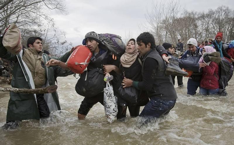 Una imagen impactante de refugiados (EFE)