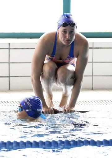 Imagen de la nadadora catalana Mireia Belmonte.