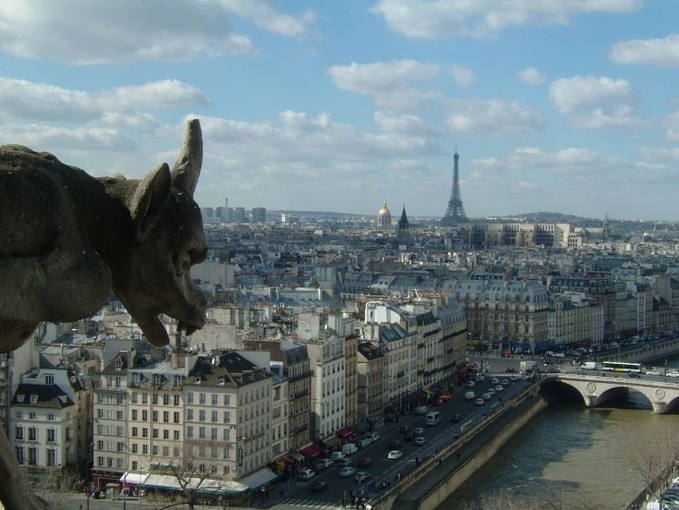 Imagen de París desde la catedral de Notre Dame