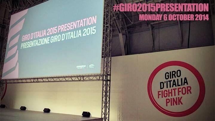 Imagen de la presentación del recorrido del Giro 2015.