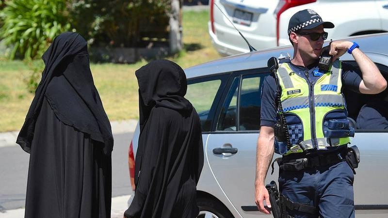 Imagen de una redada realizada por la policía australiana en Melbourne en diciembre de 2016
