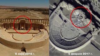 Un dron ruso desvela los destrozos causados por el Estado Islámico en Palmira