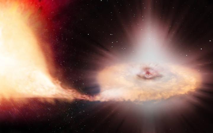 Impresión artística de una supernova tipo Ia