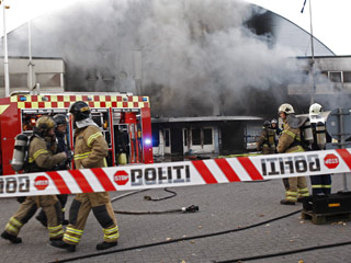 Un incendio acaba con el histórico pabellón KB Hallen de Copenhague