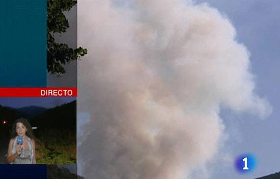 Incendio en Ezcaray