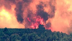 Dos personas detenidas como causantes del incendio de Cortes de Pallás (Valencia)