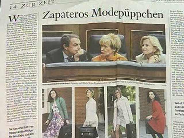 Indignación en la política española por un reportaje que critica a las ministras en la prensa alemana