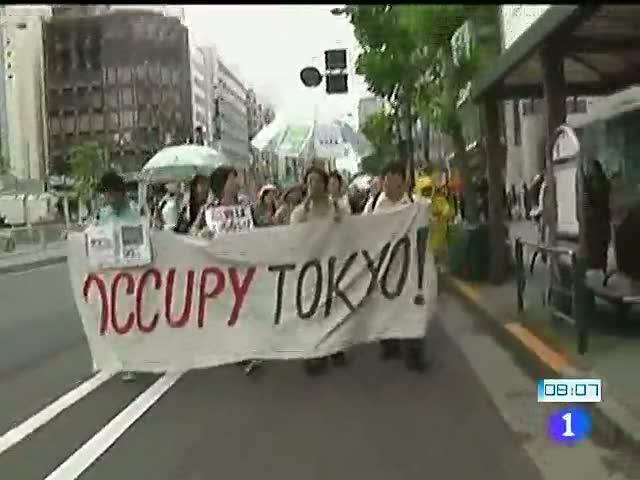 Los indignados de Tokio salen a la calle el 15-O