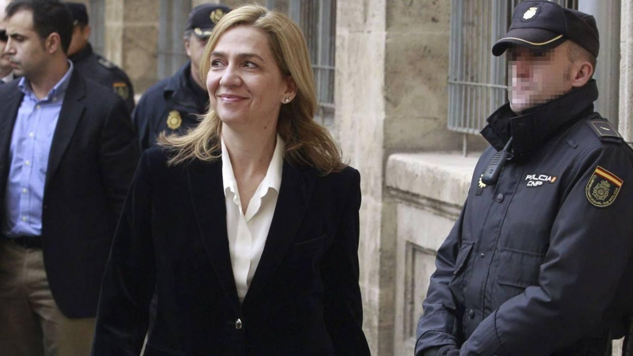 La infanta Cristina, el día de su declaración ante el juez Castro.