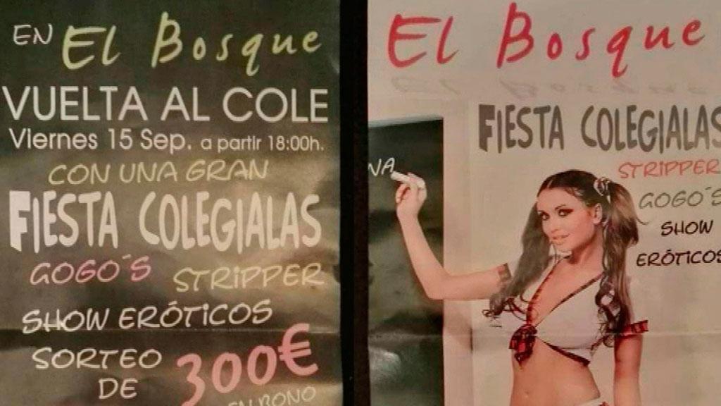El Instituto Andaluz de la Mujer denuncia que una campaña de un club de alterne en Huelva incita a la pedofilia