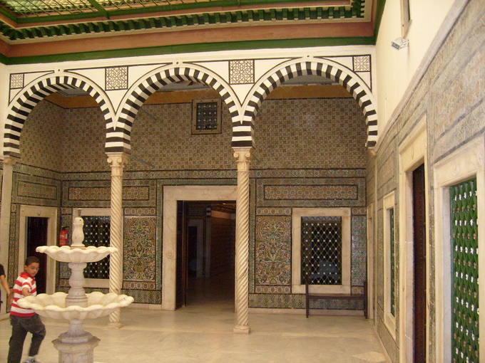 Interior del Museo Nacional del Bardo (Túnez).