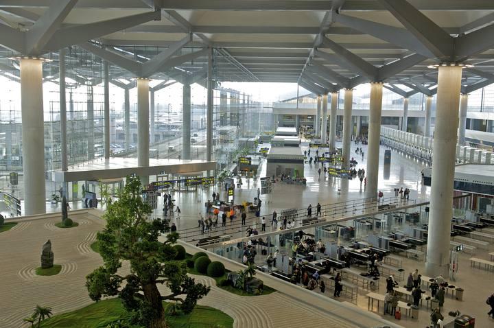 Interior de la terminal T3 del aeropuerto de Málaga