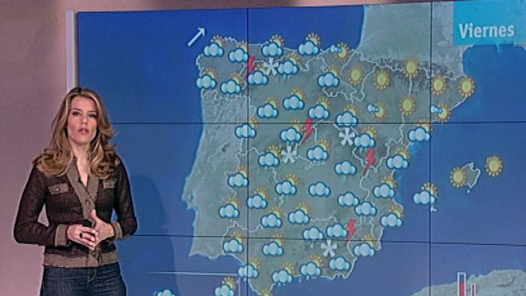 Intervalos nubosos y probables chubascos en la mayor parte de la Península