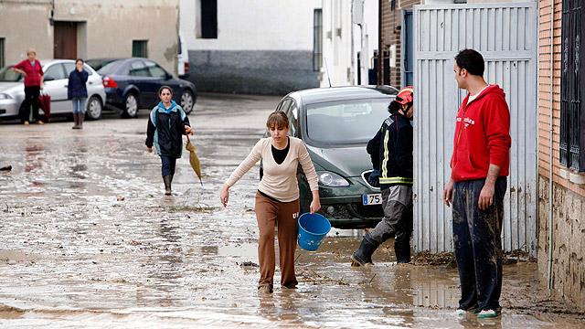 Inundaciones en Cebolla, Toledo, por las fuertes lluvias