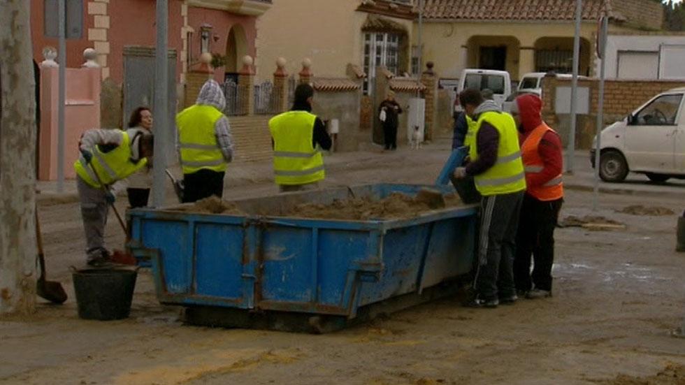 Cien casas de Sanlúcar de Barrameda afectadas por la tromba de agua