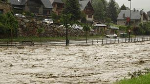 Inundaciones en el Vall d'Aran y norte de Aragón