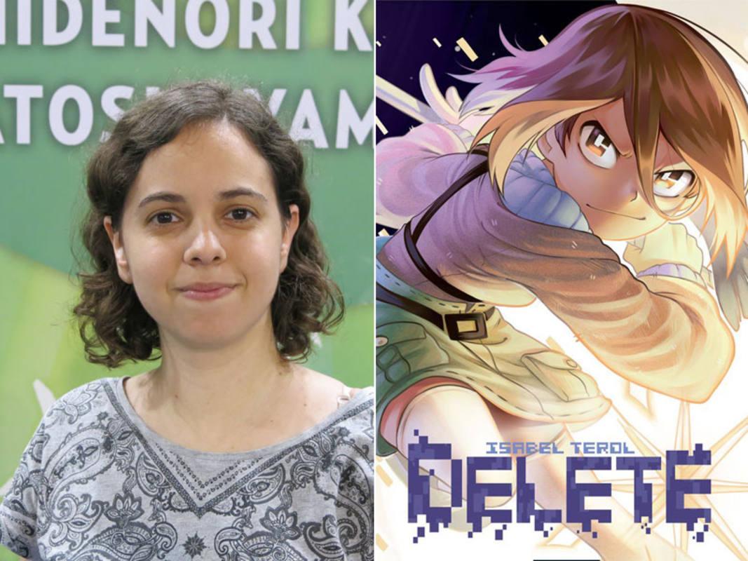 Isabel Terol y la portada de 'Delete'