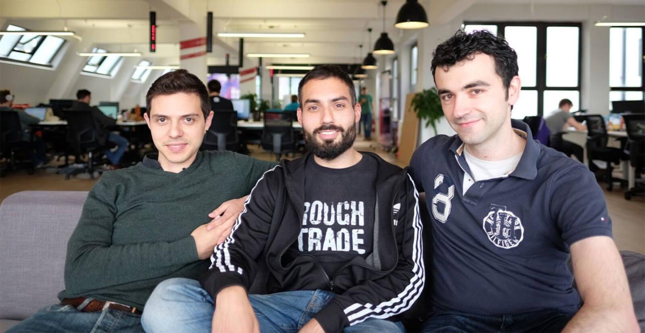 De izquierda a derecha: Sergio Díaz-Miguel, Pablo Hesse y Miguel Coronado, socios de Teltoo.