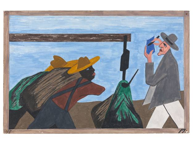 Jacob Lawrence. The Migration Series. Panel 17 (1940-41)
