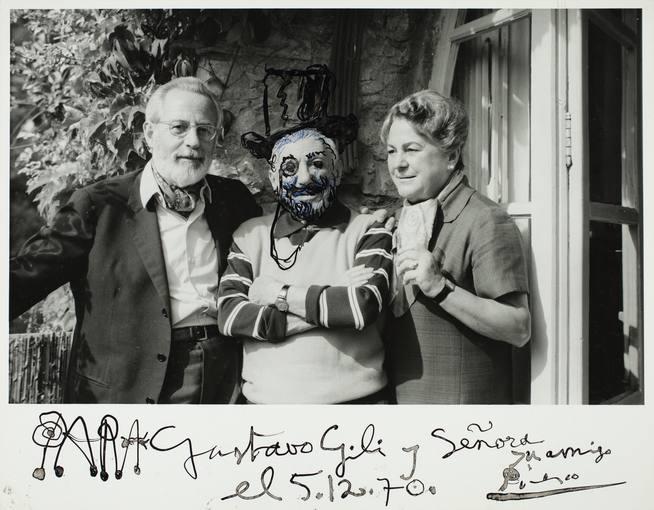 Jacqueline Picasso Gustau Gili, Pablo Picasso y Anna MariaTorraMougins, 5/12/1970