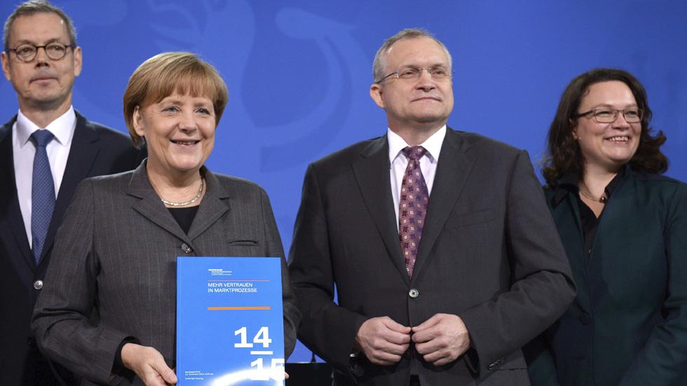 """Alemania crecerá solo un 1% en 2015, según la previsiòn de los cinco """"sabios"""""""