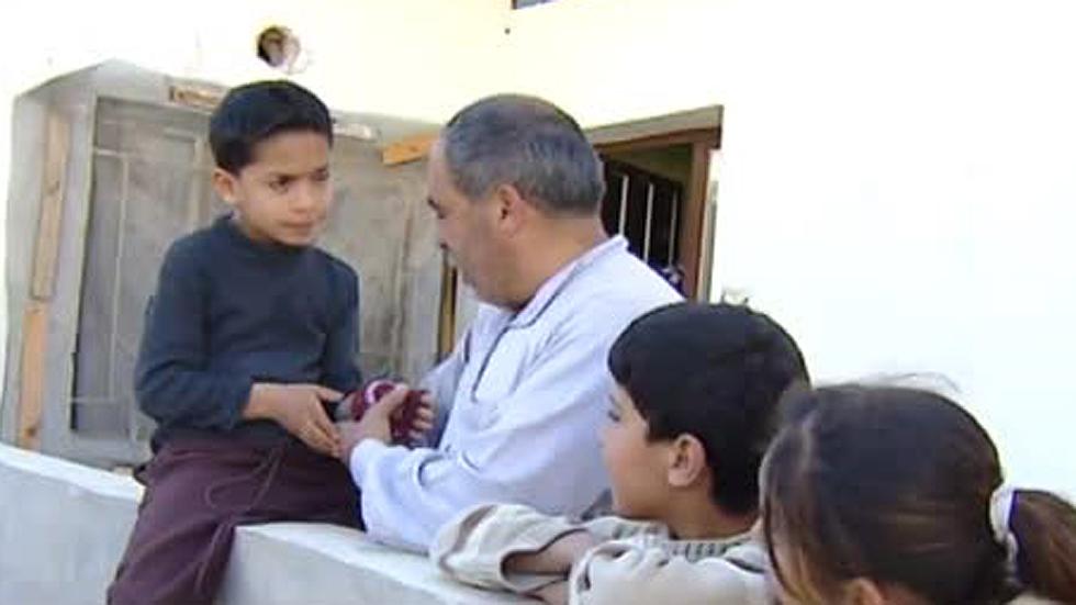 Jasem y su familia, refugiados en Jordania