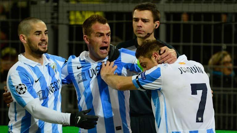 Joaquín adelanta al Málaga en Dortmund (0-1)