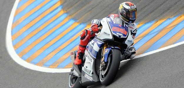 Jorge Lorenzo, en un momento del entrenamiento en Le Mans