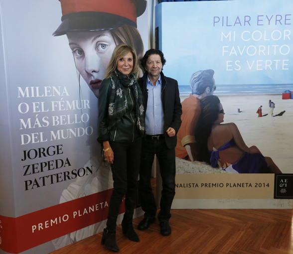 Jorge Zepeda y Pilar Eyre, ganador y finalista del Premio Planeta 2014