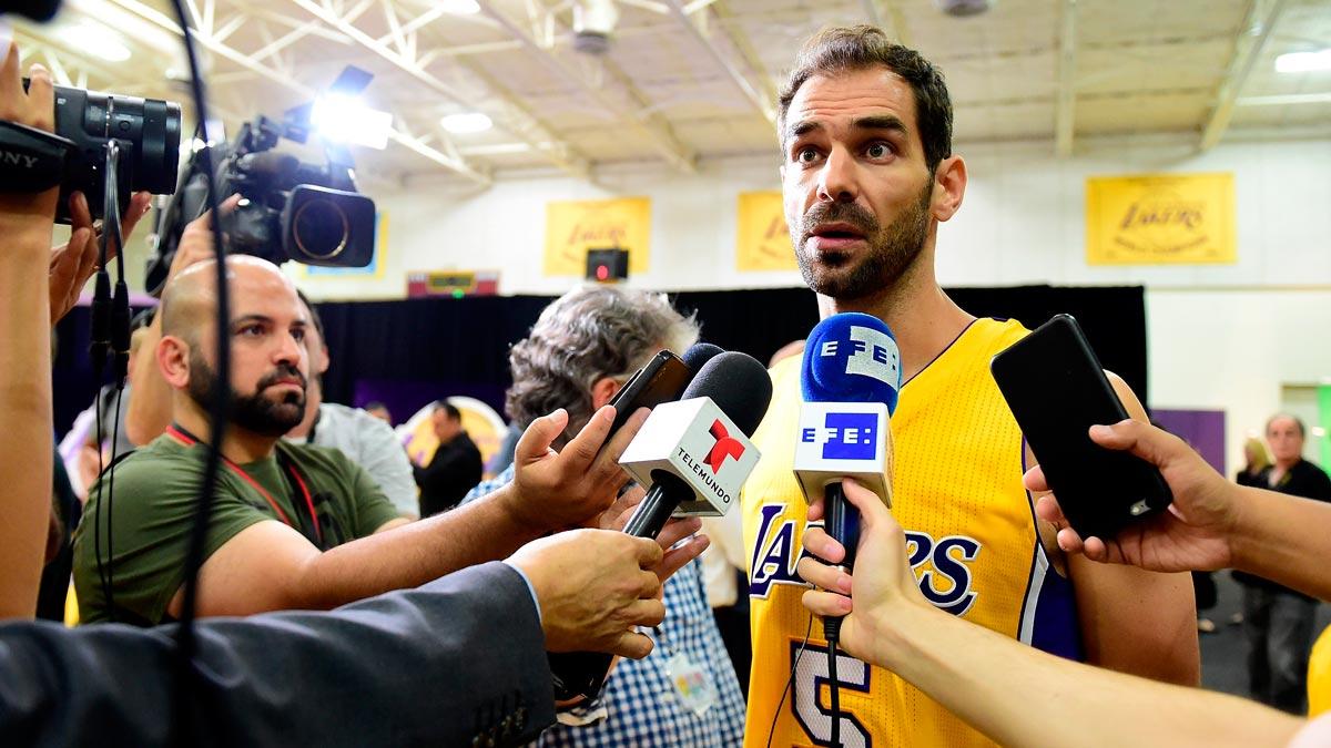 José Manuel Calderón, en su estreno en Los Angeles Lakers