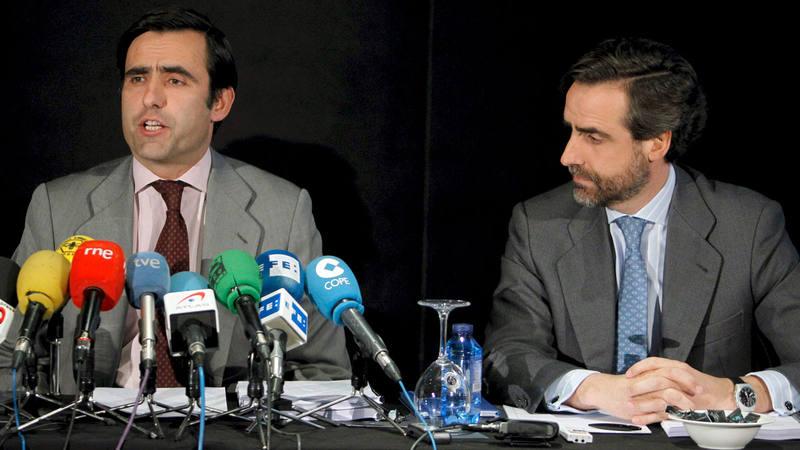 José María Ruiz-Mateos hijo y su hermano Javier Ruiz Mateos en una imagen de archivo.