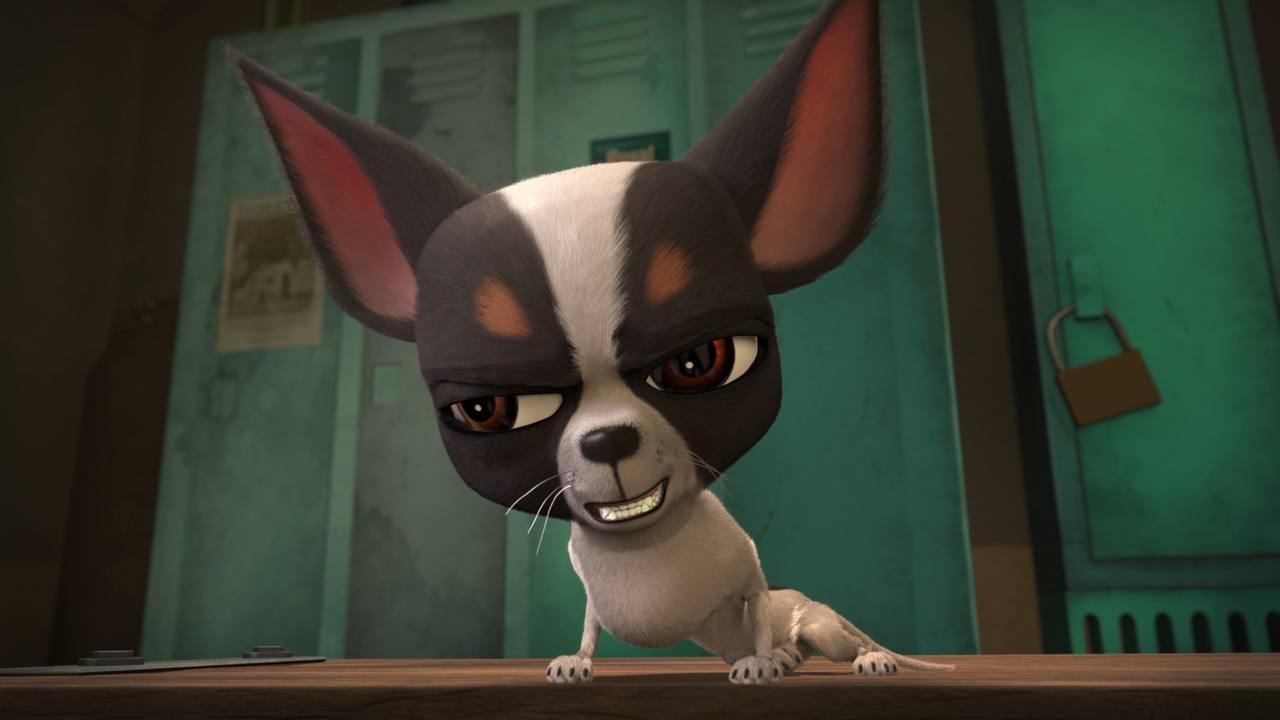 José Mota es Vito, el chihuahua capo de la prisión.